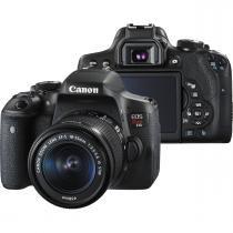 Câmera digital canon t6i dslr 18-55mm is stm 24.2mp -