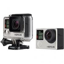 "Câmera Digital GoPro Hero 4 Silver 12MP Aquática - Visor 1,5"" Touch Wi-Fi Bluetooth"
