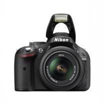 Câmera Digital Nikon D5200 - 24.1 MP / LCD 3.0 / Lente 18-55mm f/3.5-5.6 - Preta - NIKON