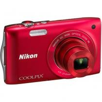Câmera Digital S3300 16MP Vermelha - Nikon - Nikon