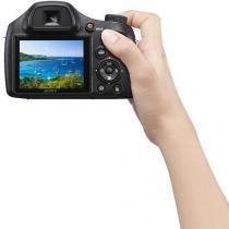 Câmera Digital Sony DSC-H400, 20.1MP, Tela 3, Zoom Óptico 63x, Filma HD, Foto Panorâmica, Cartão 8GB -