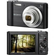 Camera digital sony dsc-w800 20.1mp, 5x zoom optico, foto panoramica videos hd preta -