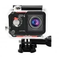 "Câmera e Filmadora XTrax Evo Preta/Vermelha 12MP, LCD 1.5"", Wi-Fi, Case À Prova DÁgua e Grava Vídeo Full HD - XTRAX"