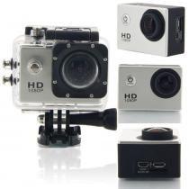 Câmera Estilo Go-Pro Sports Hd 1080p Esportes Radicais Prata - Hpl