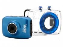 Câmera Filmadora de Ação HD c/ Caixa Estanque e Suportes Azul DVR785HD  Vivitar - Opeco