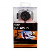 Câmera filmadora de ação HD com caixa estanque e acessórios laranja - DVR783HD - Vivitar -