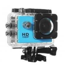 Câmera Filmadora Esportiva Hd Dv - Cor Azul - Mega page