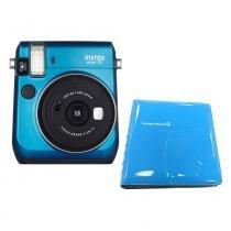 Câmera Instantânea FujiFilm Instax Mini 70 Azul + Álbum para 64 Fotos -