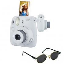 Câmera instantânea Fujifilm Instax Mini9 Branco Gelo + Óculos de Sol -