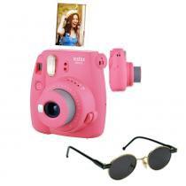 Câmera instantânea Fujifilm Instax Mini9 Rosa Flamingo + Óculos de Sol -