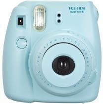Câmera Instantânea Fujifilm Kit Festa Instax Mini - 8 Azul com Filme e Acessórios