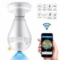 Camera Lampada Alta Definicao 360 Panoramica Espia Wifi Ip Seguraca Vr V380 (B13-LV2)(888520) - Ab midia