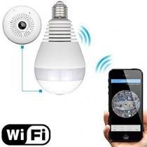 Câmera Lampada de Segurança Led Wifi IP HD 960p Panoramica Única 360º Espião Instalar e Usar - Complete store