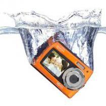 "Câmera Newlink CD110 Laranja com LCD Frontal 1,8"" e LCD Traseiro 3.0"", 16.1MP, Zoom digital 4x -"