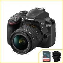 Câmera Nikon D3400 com 18-55mm f/3.5-5.6G VR -