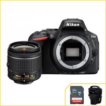 Camera Nikon D5500 24,2 MP, DX Expeed 4 WIFI com objetiva 18-55mm f/3.5-5.6 cortesia Cartão SanDisk -