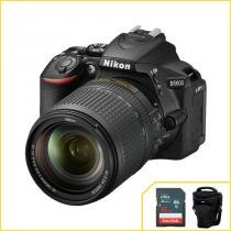 Câmera Nikon D5600 com 18-140mm f/3.5-5.6 G ED VR Wi-Fi - Nikon
