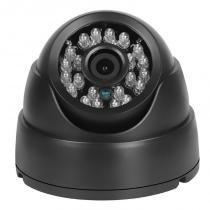Câmera Segurança de LED Dome Infravermelho HD 24 LEDs 1000TVL Preta - Iluminim led