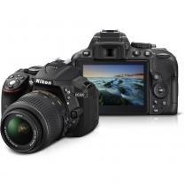 Câmera semiprofissional dslr nikon d5300 sensor cmos dx 24.2mp lcd 3.2 lente 18-55mm -