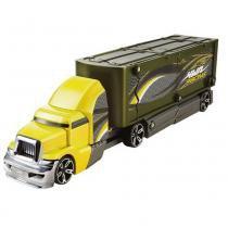 Caminhão Batida com Veículo Hot Wheels Mattel Y1868-Y1869 Verde e Amarelho - Mattel