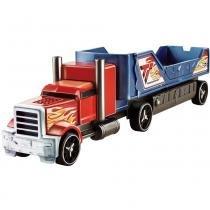 Caminhão Batida com Veículo Hot Wheels Mattel Y1868-Y1870 Azul e Vermelho - Mattel
