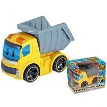 Caminhão com Caçamba Homeplay ConsTruck Luzes e Fricção Amarelo 6550 - Homeplay
