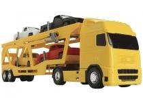Caminhão de Fricção Voyager Cegonheira - Roma Brinquedos 1354 com Acessórios