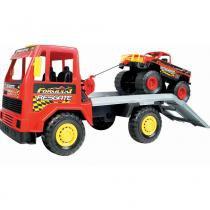 Caminhão Infantil Equipe Fórmula 1 Vermelho 322 - Magic Toys - Magic Toys