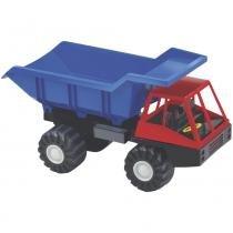 Caminhão Infantil Fortão Caçamba Azul/Vermelho 2357 - Lider - Lider Brinquedos