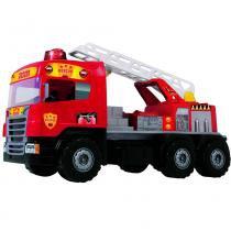 Caminhão Super Bombeiro Resgate 5056 - Magic Toys - Magic Toys