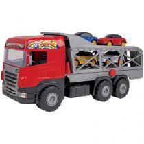 Caminhão Super Cegonha Magic Toys - com Acessórios