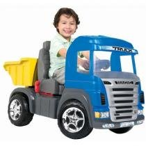 Caminhão Truck Azul Pedal - Magic Toys - Outras Marcas