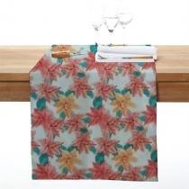 Caminho de mesa milano flor 40x140cm rosê - Ecaza