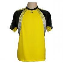 3adc8dfb86 Camisa de Goleiro Profissional Manga Curta modelo Paraí Tam GG Nº 1 -  Amarelo Preto