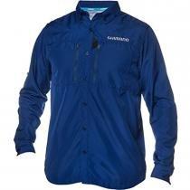 Camisa Manga Longa com Proteção UV G Azul VOLLSLNV - Shimano - G - Shimano