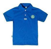 Camisa Polo Infantil Palmeiras Azul Oficial - Revedor 7ba9fd339c3
