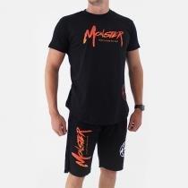 Camiseta Ampla Masculina Preta - Monster Suplementos -