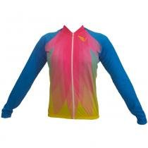 Camiseta Baby Bike Ziper Destacavel P Pink Flower Villa Sports - Villa Sports