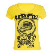 Camiseta Feminina Baby Look - Iridium Labs Kimera Amarelo M - Iridium Labs -