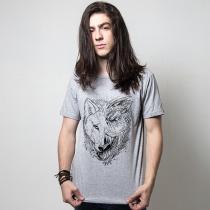 Camiseta gelo e fogo cinza  tamanho m masculino - Outros