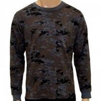 Camiseta Manga Longa Camuflada Digital Petróleo tamanho GG - Mundo do  militar 1ec3040dde0