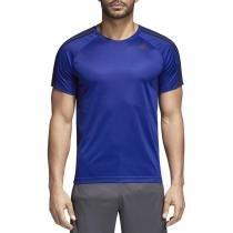 Camiseta Masculina D2M 3-Stripes - Azul - Adidas Azul - a80aec26765a6