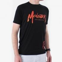 Camiseta Raglan Masculina Preta - Monster Suplementos -