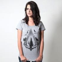 Camiseta salto da fé cinza  tamanho g feminino - Outros
