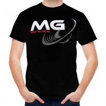 Camiseta Shutt Alto Falante MG Casual Preta Estampa Branca Cinza Vermelha - Tamanho G - Shutt