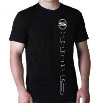 Camiseta Shutt S Emblema Casual Preta Estampa Branca Gola Careca - Tamanho XGG - Shutt
