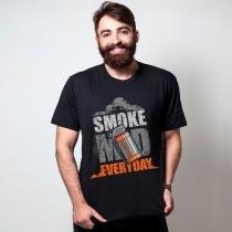 Camiseta smoke mid preta  tamanho p masculino - Outros