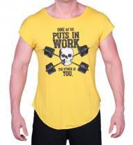 Camiseta Strong Caveira Amarela - Ziboo -