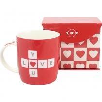 Caneca 320ML na Caixa Zona Criativa Love You -