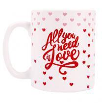 Caneca All you Need is Love Amor - Rosa - Único - Gorila Clube